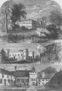 FULHAM. Fulham Palace, in 1798. London c1880 old antique vintage print picture